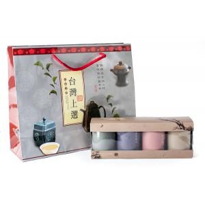 """Zestaw puszek """"Orient"""" w połączeniu z 4 rodzajami herbat oolong"""
